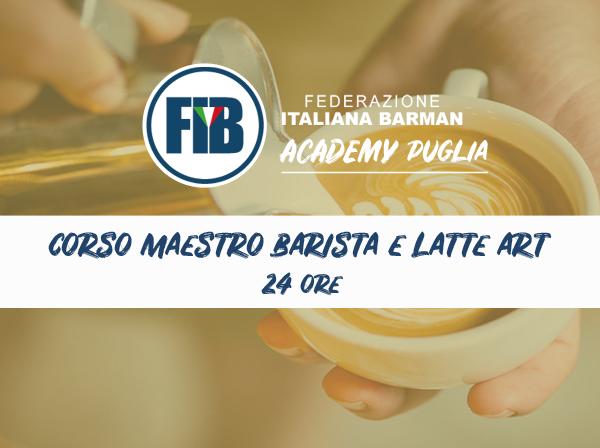 Corso mastro barista e latte art FASANO 18/02/2019