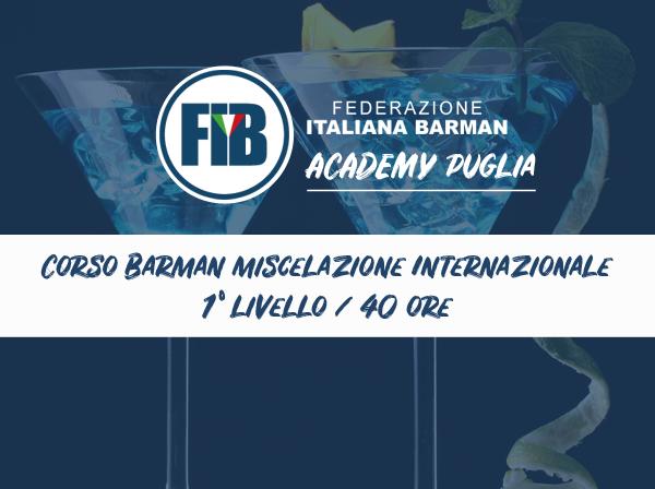 Iscriviti al corso Barman miscelazione internazionale 1° Livello - FASANO (BR) 11/01/2021