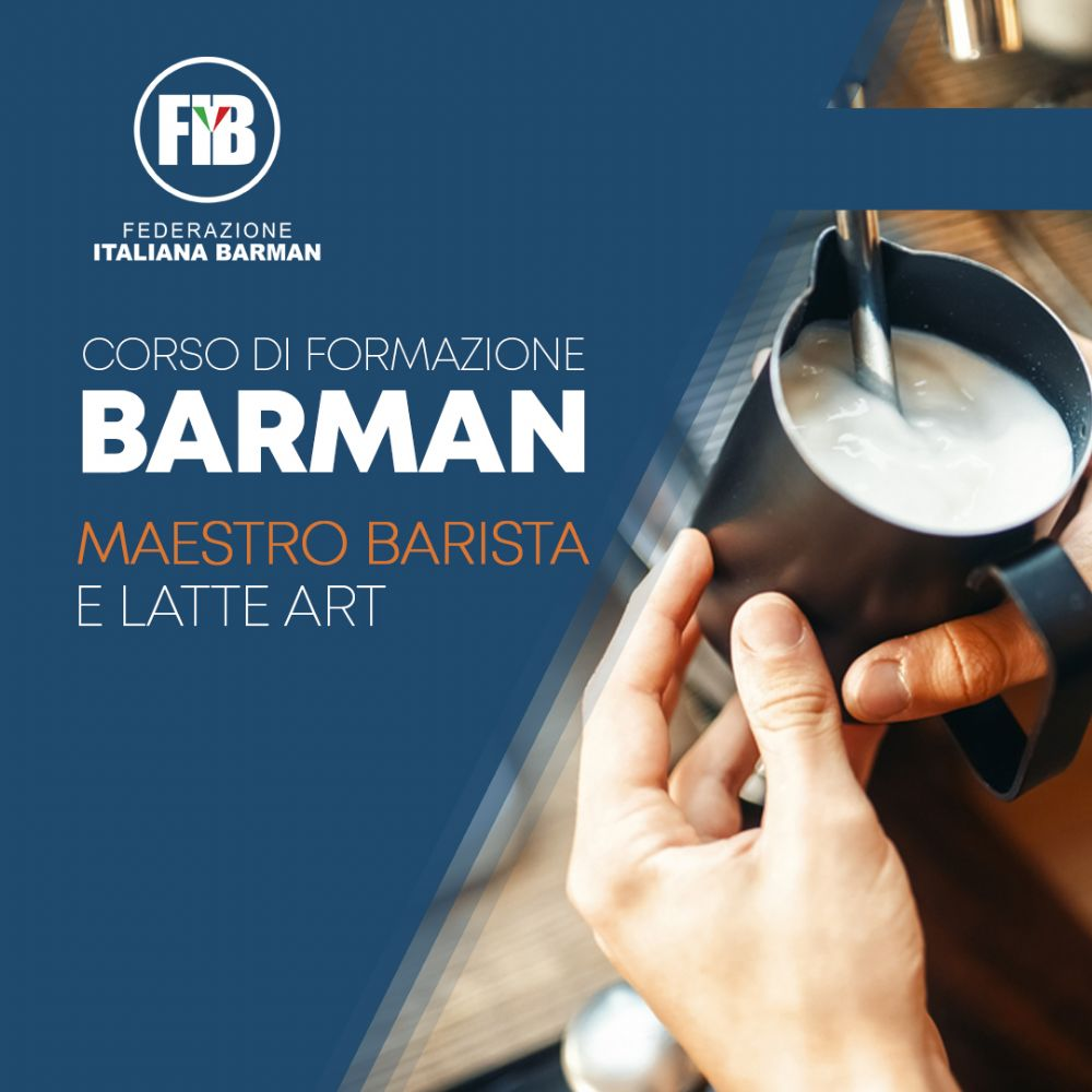 16 NOVEMBRE - CAGLIARI NUOVO CORSO MAESTRO BARISTA E LATTE ART
